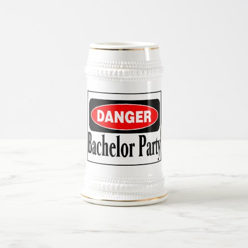 Danger Bachelor Party Beer Stein