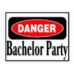 Danger Bachelor Party Postcards