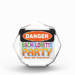 Danger bachelorette party funny bridal party award