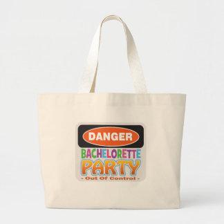 Danger bachelorette party funny bridal party canvas bag