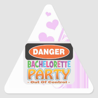 Danger bachelorette party funny bridal party triangle sticker