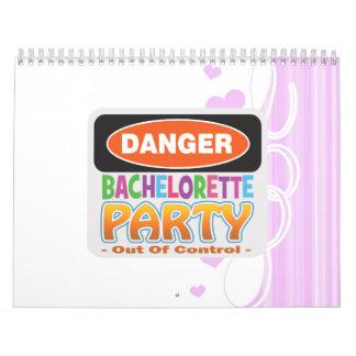 Danger bachelorette party funny bridal party calendar