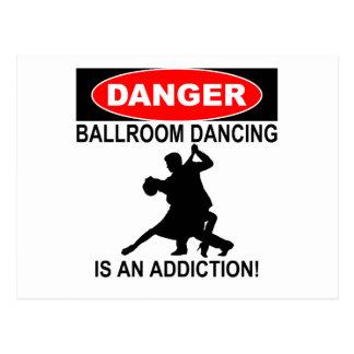 DANGER: Ballroom Dancing is an Addiction Postcard