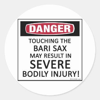 Danger Bari Sax Sticker
