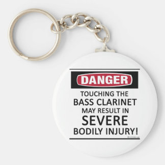 Danger Bass Clarinet Keychain