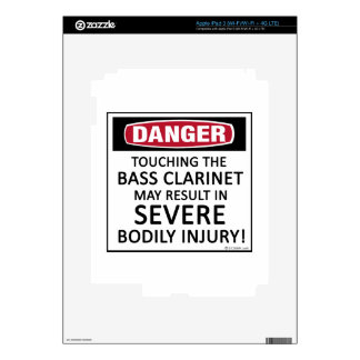 Danger Bass Clarinet Decal For iPad 3