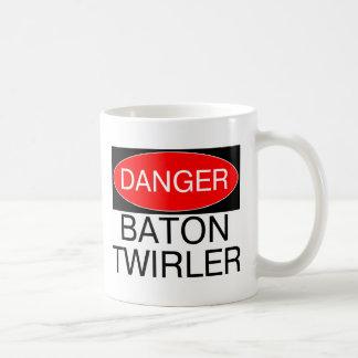 Danger - Baton Twirler Funny Twirling T-Shirt Mug