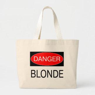 Danger - Blonde Funny Joke T-Shirt Mug Hat Apron Bags