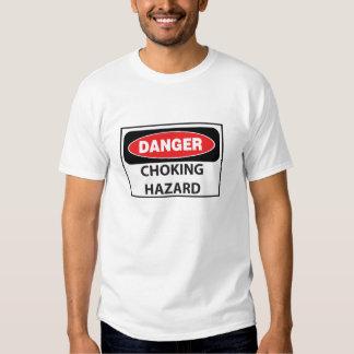 Danger-Choking-Hazard_white Tee Shirt