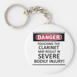 Danger Clarinet Basic Round Button Keychain