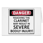 Danger Clarinet Cards