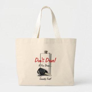 Danger combination large tote bag
