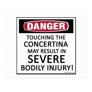 Danger Concertina Postcard