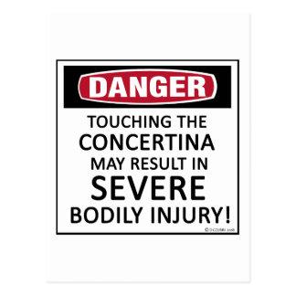 Danger Concertina Post Card