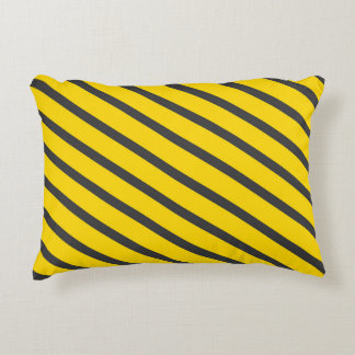 Danger construction zone alert kids room pillow