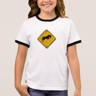 ♦ Danger crossed of unicorn ♦ Ringer T-Shirt