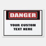 Danger Custom Small Yard Sign