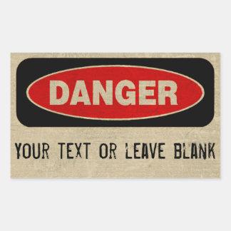 Danger Custom Stickers