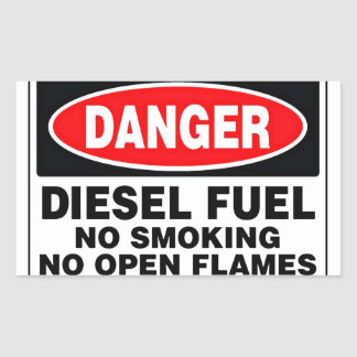 Danger Diesel Fuel Sign Sticker