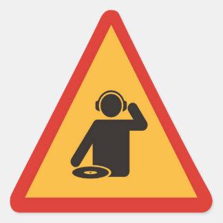 Danger DJs at Work Triangle Sticker