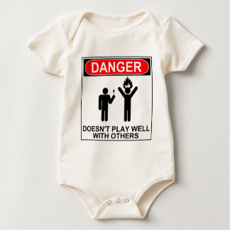 Danger: Doesn't Play Well With Others Baby Bodysuit