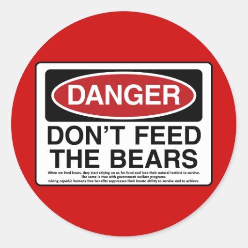 DANGER: Don't Feed the Bears Sticker