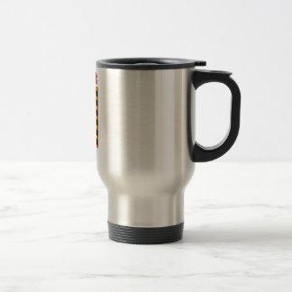 Danger dont push button 15 oz stainless steel travel mug