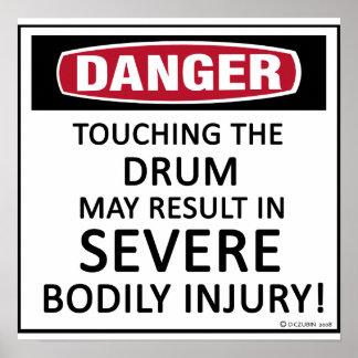 Danger Drum Poster