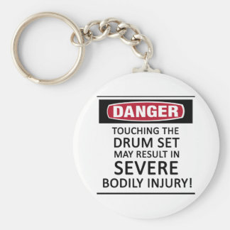Danger Drum Set Keychain