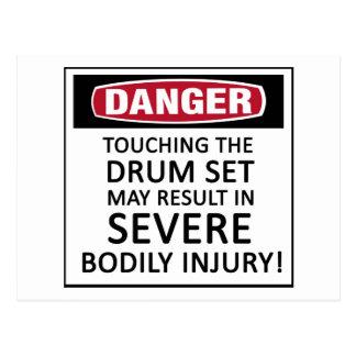 Danger Drum Set Postcard