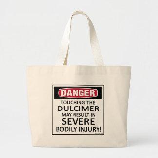 Danger Dulcimer Large Tote Bag