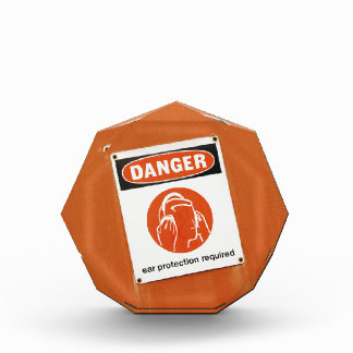 Danger! Ear protection required Acrylic Award
