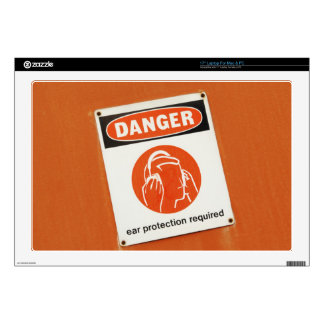 Danger! Ear protection required Laptop Decal