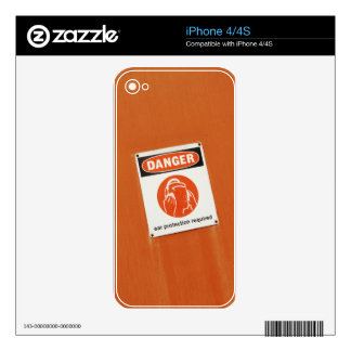 Danger! Ear protection required Skins For iPhone 4S