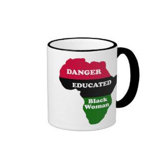 DANGER - Educated Black Woman Ringer Mug