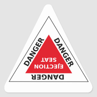Danger - Ejection Seat Triangle Sticker
