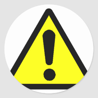 Danger! (Exclamation mark) Classic Round Sticker