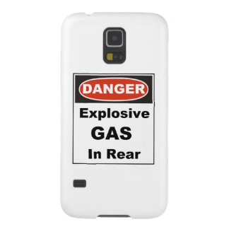 Danger Explosive Gas in Rear Galaxy S5 Cover