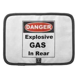 Danger Explosive Gas in Rear Organizers