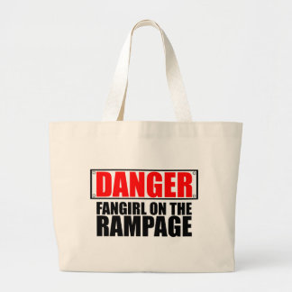 DANGER: Fangirl on the Rampage Canvas Bags