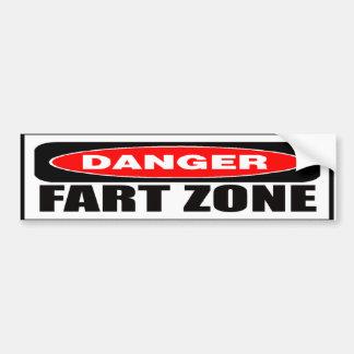 Danger Fart Zone Bumper Sticker