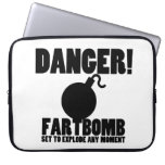 Danger!  Fartbomb to Explode Computer Sleeve