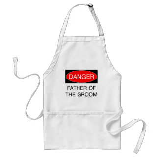 Danger - Father Of The Groom Funny Wedding T-Shirt Adult Apron