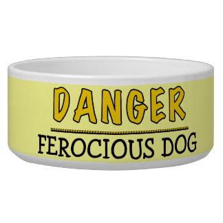 Danger Ferocious Dog Pet Dish Pet Bowls