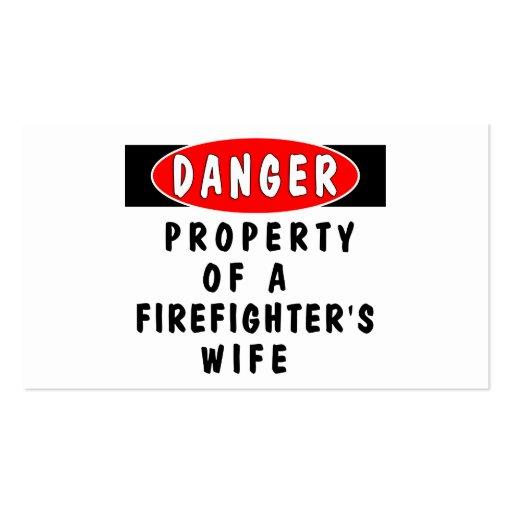 Danger!  FF Wife Business Card