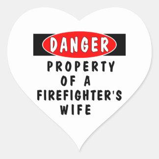 Danger!  FF Wife Heart Sticker