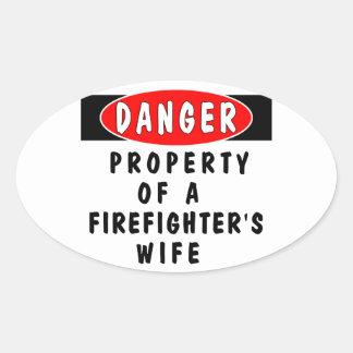 Danger!  FF Wife Oval Sticker