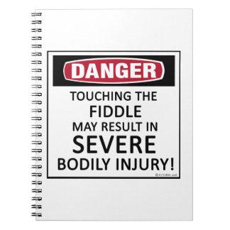 Danger Fiddle Spiral Note Books