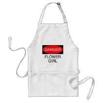 Danger - Flower Girl Funny Wedding T-Shirt Mug Hat Adult Apron