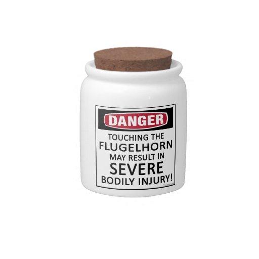 Danger Flugelhorn Candy Dishes